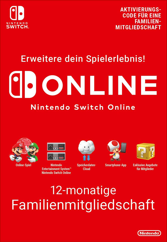 Nintendo Switch Online – Familienmitgliedschaft für 12 Monate (365 Tage)   heute noch 3,50€ in Goldpunkten
