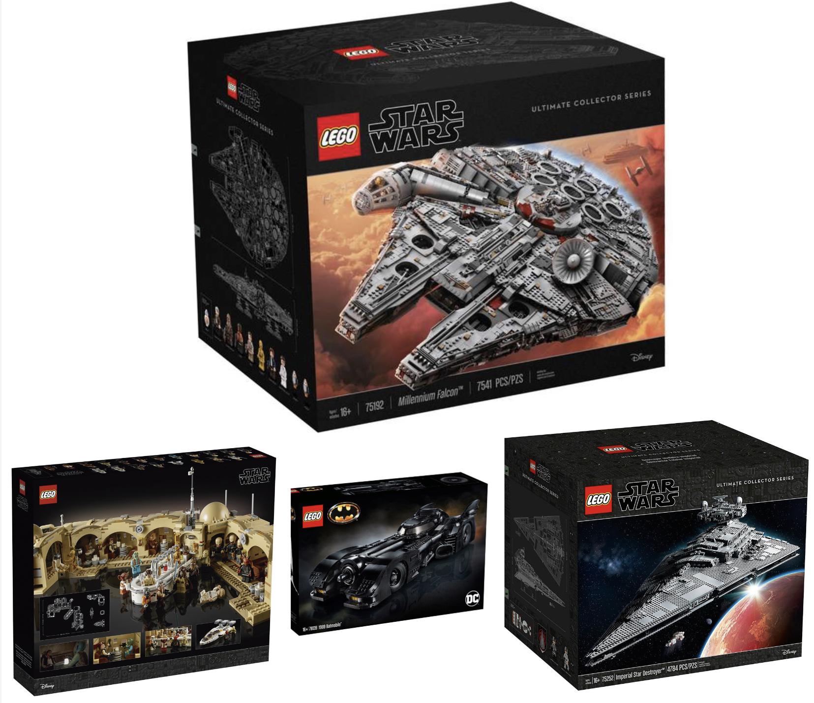 LEGO Star Wars 75192 Millennium Falcon für 639,20€ / LEGO Star Wars Imperialer Sternzerstörer 75252 für 559,96€ und weitere Angebote!