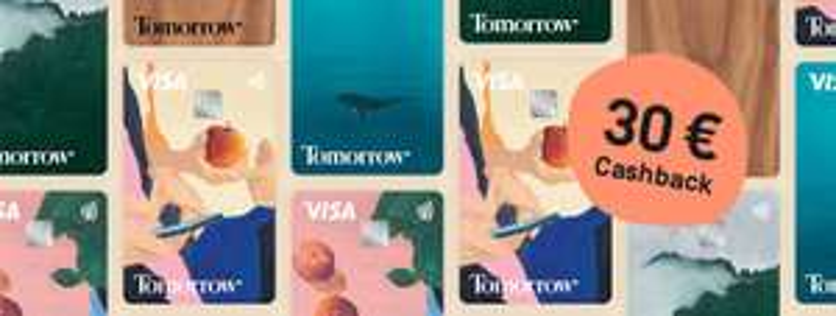 Tomorrow dauerhaft kostenloses Girokonto mit VISA 30€ Cashback für Eröffnung über Shoop