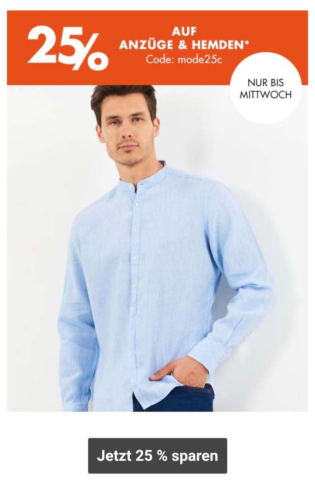 Galeria 25% Anzüge, Hemden und Damenblusen und 30% auf Uhren und Schmuck bis 12.05