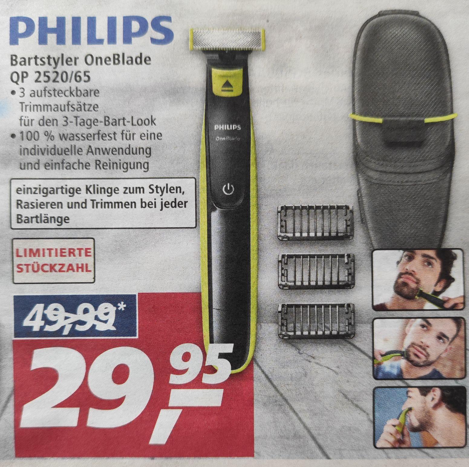 [Lokal / ggf. bundesweit] Philips OneBlade QP2520/65