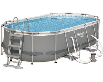 *Lokal vereinzelt* Bestway Stahlrahmen-Pool Power Steel 427 cm x 250 cm x 100 cm Oval