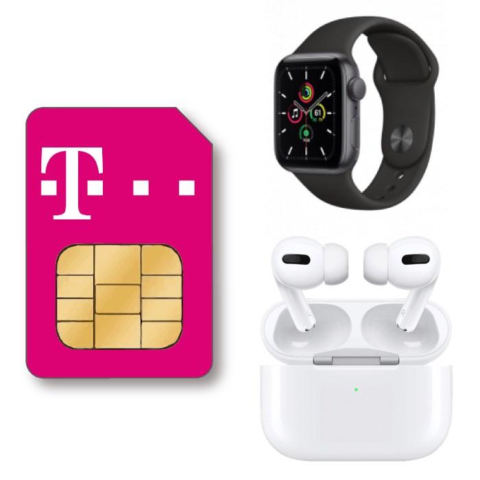 Apple Watch SE 40mm + AirPods Pro für 4,99€ ZZ mit Telekom Family Card S (6GB LTE 5G, StreamOn) für mtl. 29,95€ + 120€ Cashback