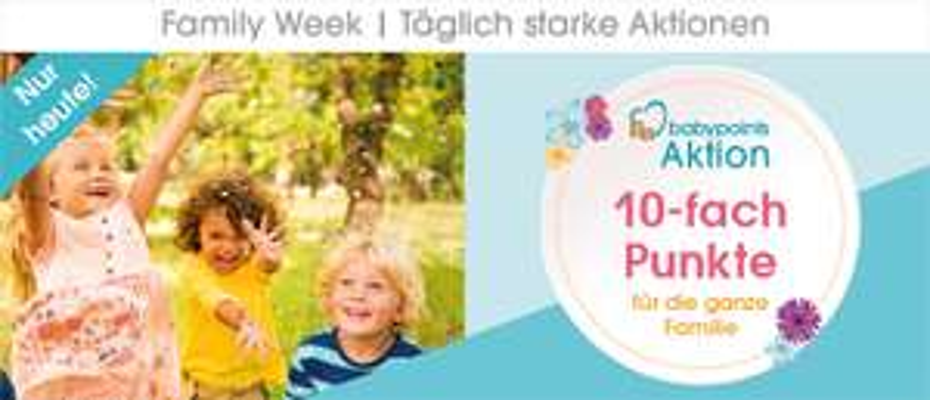 (Babymarkt) heute 10-fach Punkte (+ evtl 8% Rabatt), z. B. Philips Avent Babyphone, Queridoo, Cybex, Britax Römer