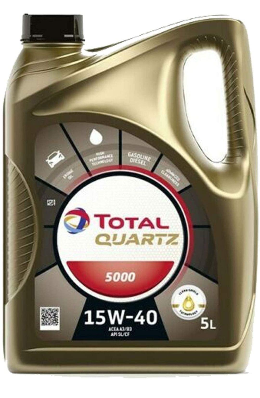 Total Quartz 5000 15W-40 Mehrbereichs - Motoröl im 5 Liter Kanister Auto