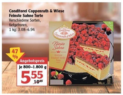 Konditorei Coppenrath & Wiese feinste Sahnetorte 800-1800 g verschiedene Sorten ab 10.05 Globus