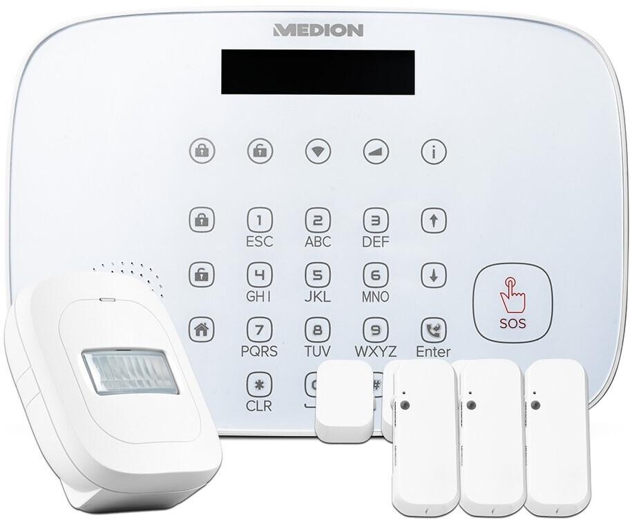 Medion Sales Week: Diverse Smart Home-Produkte, z.B. Security-Set P85773 (Zentrale, 3x Tür-/Fensterkontakt, Bewegungsmelder, WLAN)