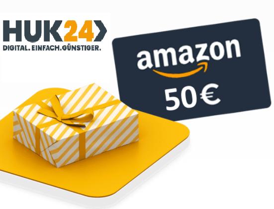 Huk24 Haftpflicht oder Hausrat abschließen und 15 Euro Amazon-Gutschein erhalten (zusätzlich 50€ KwK möglich)