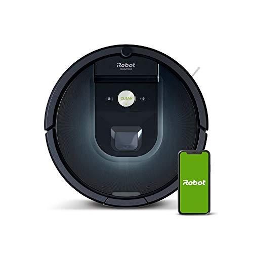 [Amazon] iRobot Roomba 981 Saugroboter mit 3-stufigem Reinigungssystem, Raumkartierung, Teppich-Turbomodus, zwei Multibodenbürsten