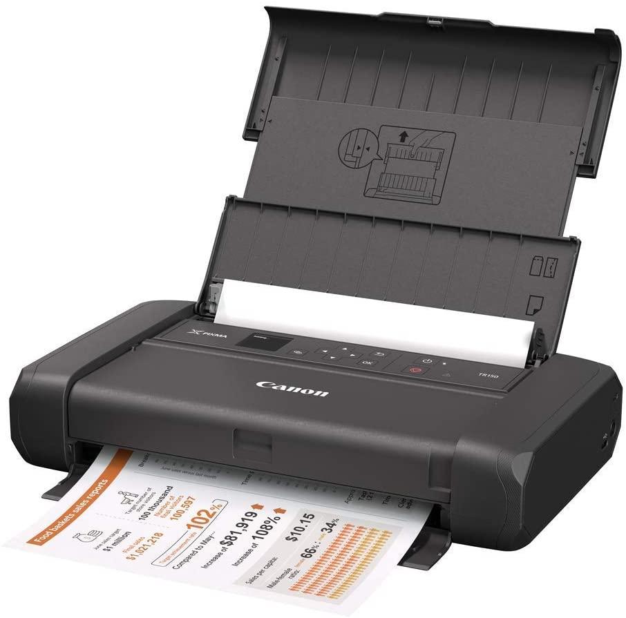 Canon Pixma TR150 portabler Tintenstrahldrucker: ohne Akku für 189€ oder mit Akku für 239€ (A4, 9/5.5 S/min, 50 Blatt, USB-C, WLAN)