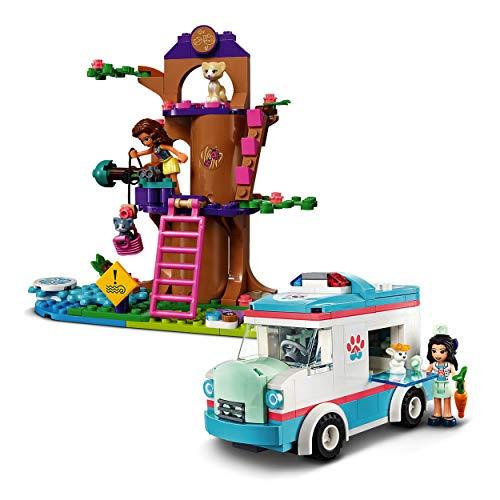 LEGO 41445 Friends Tierrettungswagen Spielzeugauto mit Olivia und Emma