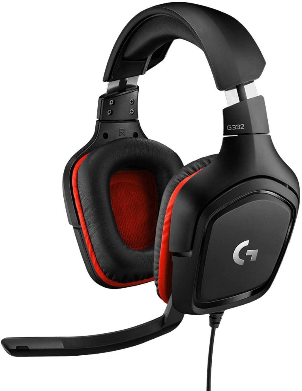Logitech G332 Gaming Headset (Over-Ear, geschlossen, 3.5mm Klinke, Mikrofon mit Flip-Stummschalter, Lautstärkeregler, 303g)