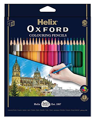 Helix Oxford Buntstifte 24 Stifte sortiert (Prime uk)