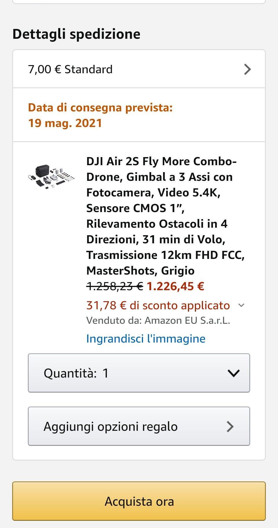 Drohne DJI Mavic Air 2s Fly More Combo Amazon.IT