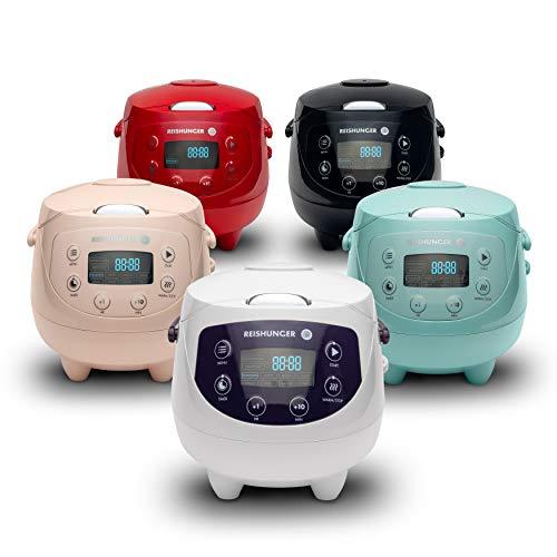 Digitaler Reishunger Mini Reiskocher und Dampfgarer in Pink oder Weiß (andere Farben kosten mehr)