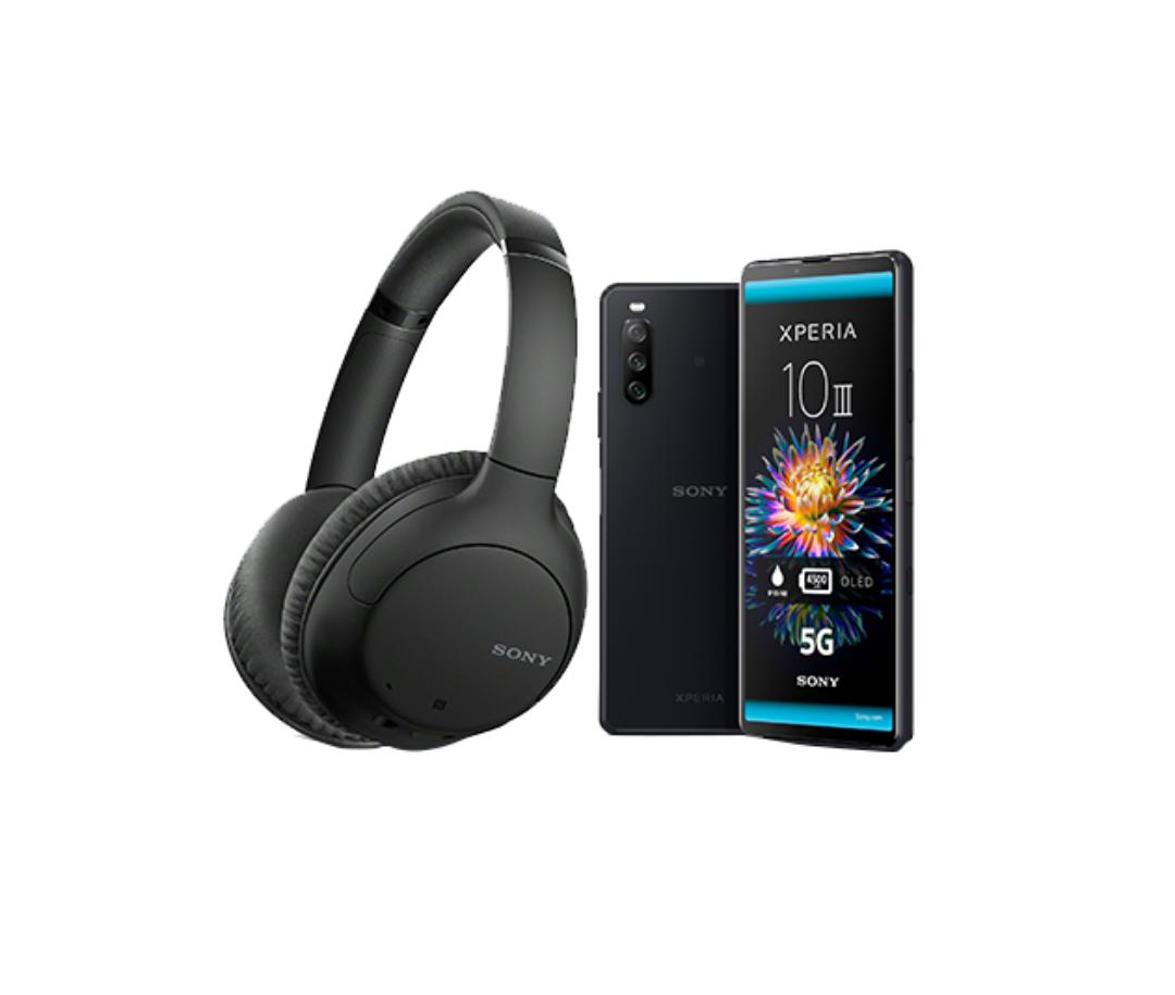 Sony Xperia 10 III + Sony WH-CH710N Kopfhörer, 3 Monate Joyn PLUS+