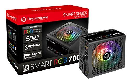 Thermaltake Smart RGB 700W PC-Netzteil [NICHT modular] | 80Plus zertifiziert | ATX | 15x14,6x8,5cm