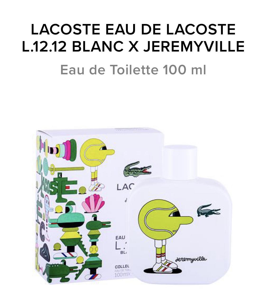 LACOSTE EAU DE LACOSTE L.12.12 BLANC X JEREMYVILLE