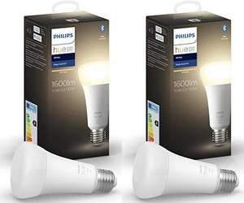 2x Philips Hue e27 1600lm hell (hohe Leuchtkraft)