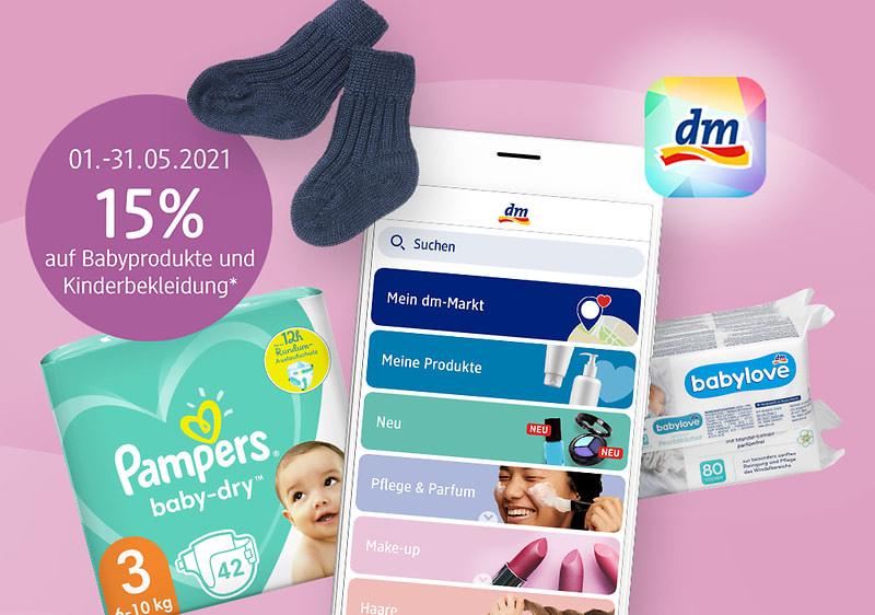 [DM & Payback] bis 53fach Payback Punkte oder 15% rabatt auf Baby Produkte u. Kinderbekleidung kombinierbar