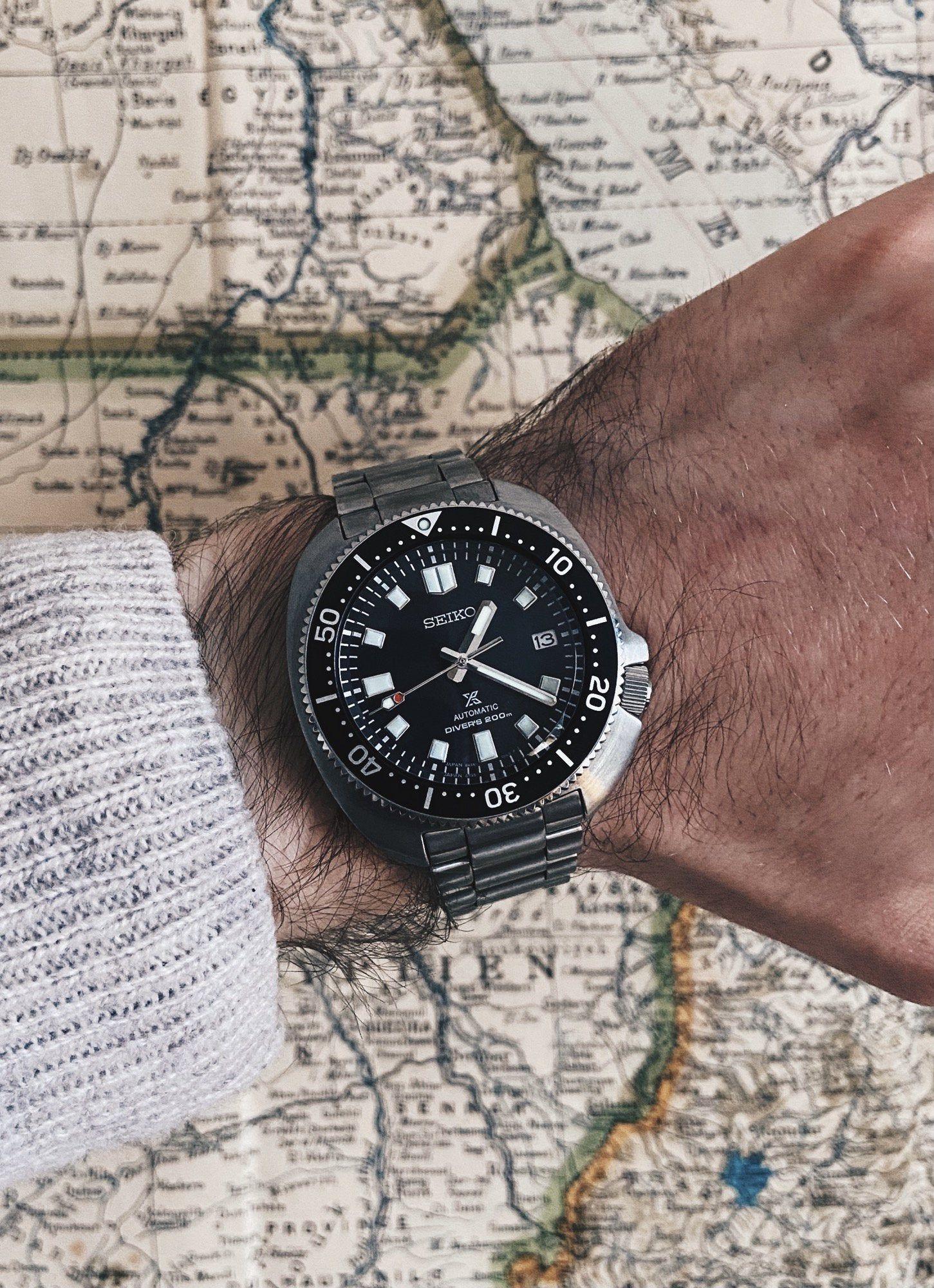 "Seiko Prospex ""Captain Willard"" Diver Automatikuhr - bekannt aus Apocalypse Now - 43mm - Kal. 6R35 - bombiertes Antireflex-Saphirglas"