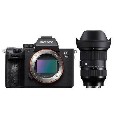 Sony Alpha 7 III (ILCE-7M3) + Sigma 24-70MM F2.8 + AKKU + Fotokurs (Mit Cashback 2449€)