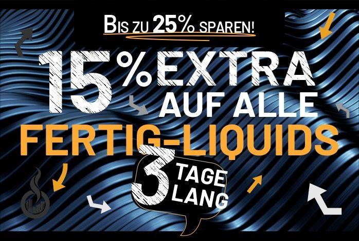 15% auf alle Fertig-Liquids   Besserdampfen