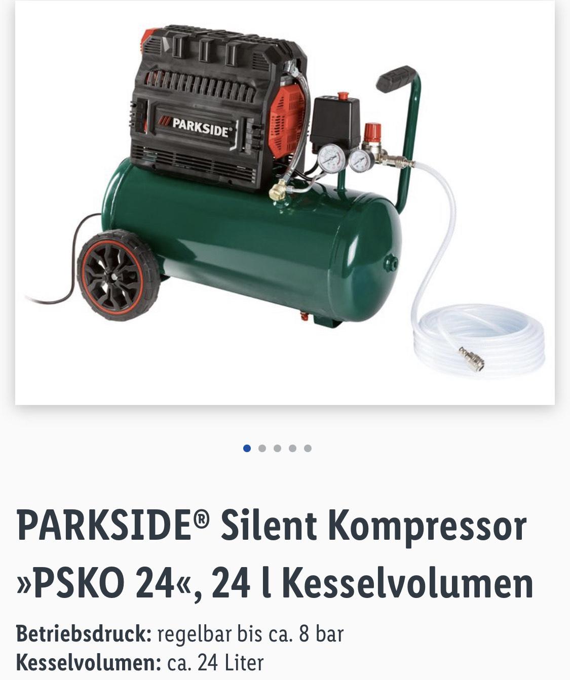 Parkside Silent Kompressor bei Lidl