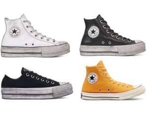 Converse Outlet Re-Stock, zB Chuck Taylor All Star Leather Smoke Platform High Top