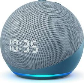 Amazon Echo Dot (4. Gen.) - smarter Lautsprecher mit Uhr und Alexa Blaugrau + Füllartikel