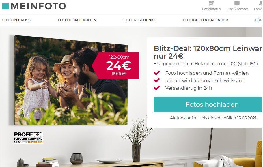 [meinfoto.de] diverse Fotoleinwände, speziell 120x80cm