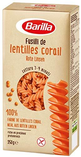 Barilla Fusilli Rote Linsen, 10er Pack (10 x 250 g) Amazon-Prime