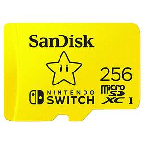 SanDisk 256 GB microSDXC im Nintendo Switch Design