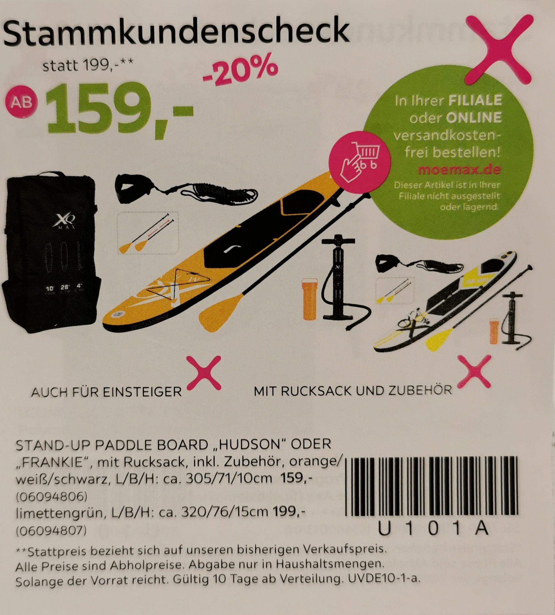 SUP, Stand up paddle board von XQ Max (Mömax-Stammkunden)