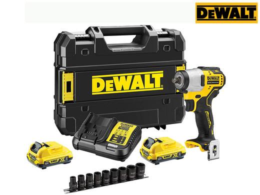 "DeWALT 12V-Akku-Schlagschrauber ""DCF902D2K"" (3/8, 2x 2Ah-Akku, Ladegerät, T-STAK-Box, 9-teiliger Steckschlüsselsatz, Bürstenlos) [iBOOD]"