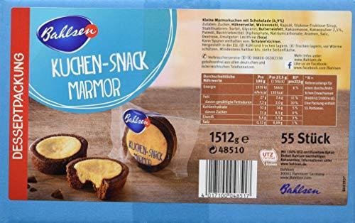 """Amazon Prime: Bahlsen 55 x Kuchensnack """"Marmor"""", einzeln verpackt mit 27,5g je Küchlein mit einem Durchmesser von ca. 5cm, Gesamt ca. 1,5 Kg"""