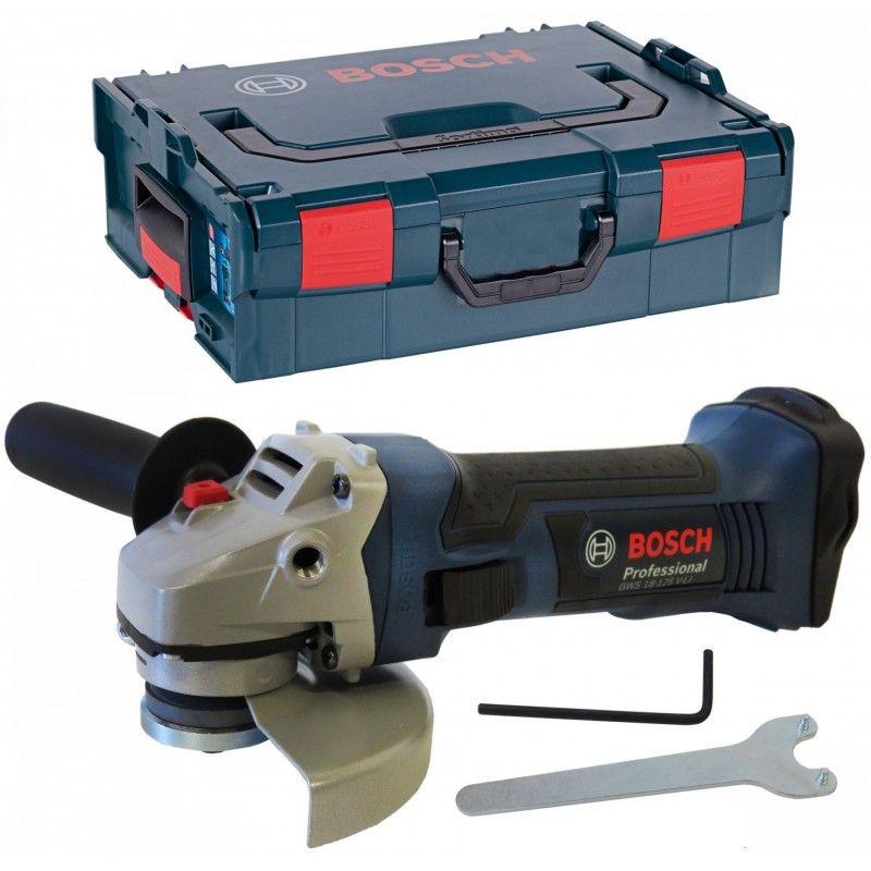Bosch Professional 18V Akku-Winkelschleifer GWS 18-125 V-LI ( ohne Akkus, ohne Ladegerät ) L-Boxx