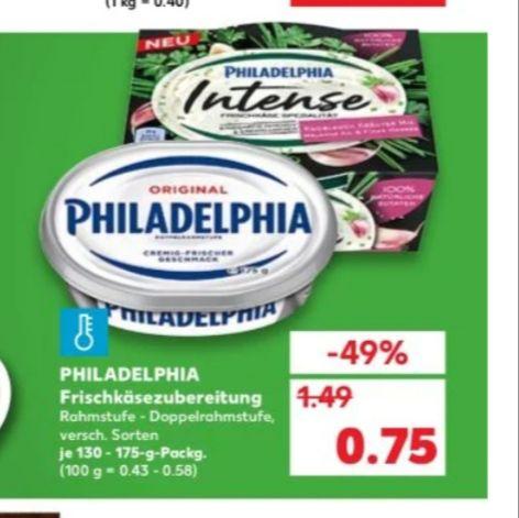 Philadelphia für 0,75€ bei Kaufland
