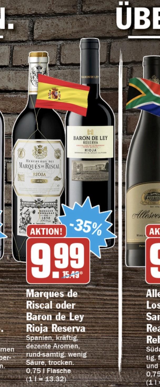 HIT Markt: Marques de Riscal Rioja Reserva 2016 Rotwein / Wein