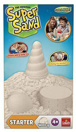 Goliath Super-Sand Starter-Set 400g, spezieller magischer Super Sand für Sandburgen im Kinderzimmer, ab 4 Jahren [Amazon Prime]