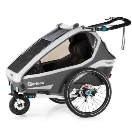 Qeridoo® Kinderfahrradanhänger Kidgoo2 Sport Grey