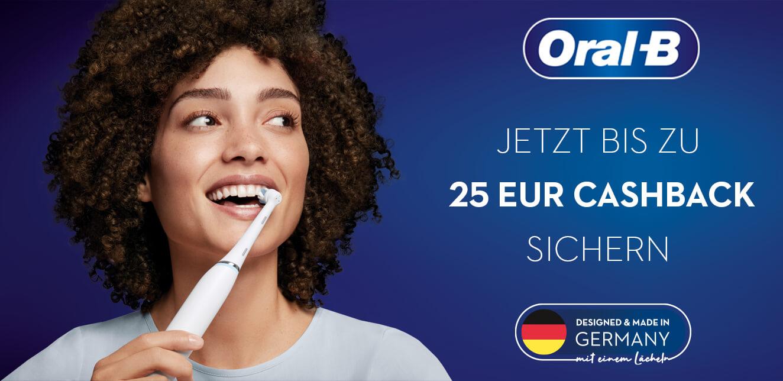 """Oral-B Cashback-Aktion """"MADE IN GERMANY - MIT EINEM LÄCHELN"""" bis zu 25 Euro zurück"""
