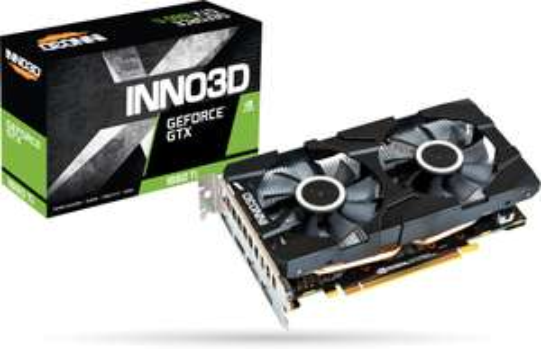 INNO3D GeForce GTX 1660 Ti Compact X1 Grafikkarte (6GB GDDR6, 120W TDP, 90mm-Lüfter, Dual-Slot, HDMI, 3x DP, 188x115mm)