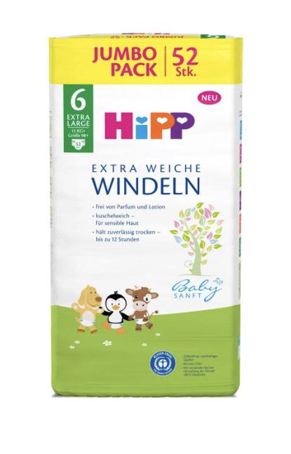 Hipp Windeln Jumbopack 2+1 gratis (Größe 3-6) Rossmann online