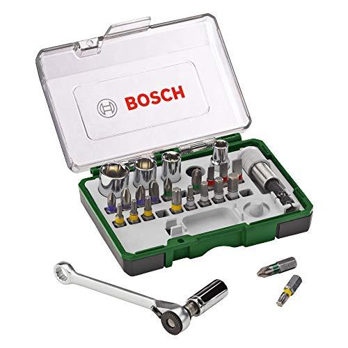 Bosch 27tlg. Schrauberbit- und Ratschen-Set/ oder das 26tlg Bit / Ratschenset 13,99€ (Prime)