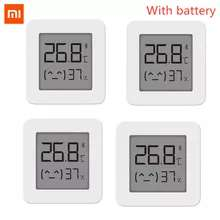 4 x XIAOMI Mijia Bluetooth Thermometer 2 (3,16€ pro Stück) für 12,65€ ohne Batterie @ Aliexpress