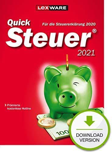 [Amazon] Lexware QuickSteuer 2021 Downloadversion für das Steuerjahr 2020 | Standard