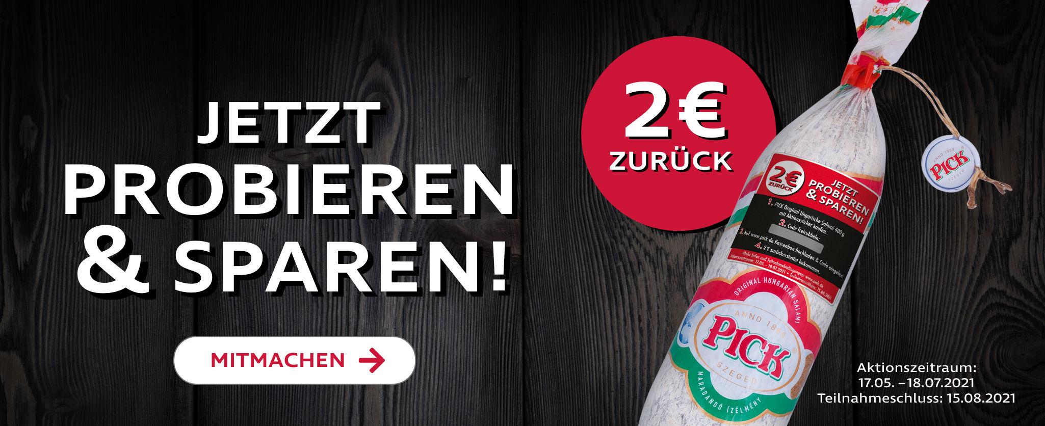 (GzG anteilig) PICK Original Ungarische Salami 400 g mit Aktionssticker kaufen, 2€ Cashback erhalten