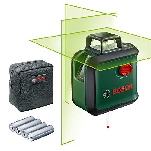 Bosch Kreuzlinienlaser AdvancedLevel 360 mit grünem Laser - 360° Linie und 2 weitere Linien