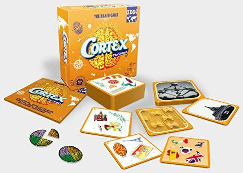 Asmodee Cortex Challenge GEO, Partyspiel, Gehirnjogging mit Spaßfaktor, 2-6 Spieler, ab 8 J. [Amazon Prime]